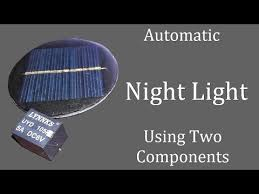 automatic night light street light using 6v solar panel with