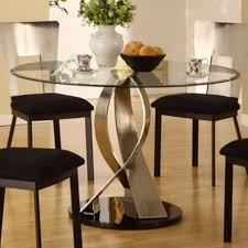 Black And White Dining Room Ideas by Small Round Dining Table Round Glass Dining Table And 4 Chairs