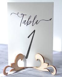 Diy Table Number Holders Aliexpress Com Buy 10x Wood Wooden Floral Table Number Holder