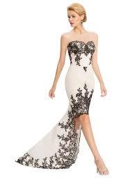 rose red white mermaid prom dresses grace karin 2017 short front