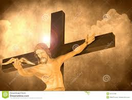 jesus christ releasing a dove from the cross royalty free stock