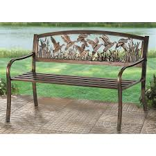 Castlecreek Patio Furniture by R A Guthrie Cast Iron Wildlife Bench 199833 Patio Furniture At