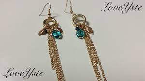 easy earrings diy how to make a pair of dangle earrings easy tutorial