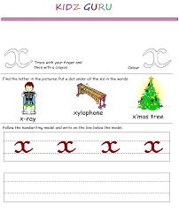 kindergarten worksheets printable handwriting worksheet alphabet x