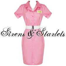 Frenchie Halloween Costume Pink Frenchy Grease Beautician 50s Pencil Fancy Dress Frenchy