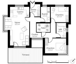 plan maison 7 chambres plan maison avec patio de interieur toit plat ooreka homewreckr co