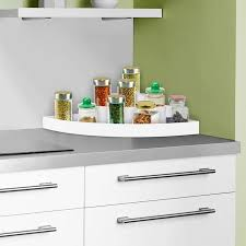 corner kitchen cabinet liner hastings home 3 tier corner organizer plastic space saver countertop pantry and cabinet storage shelf with non slip liner by hastings home