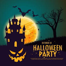 House For House Background With A Pumpkin On A Haunted House For Halloween Vector