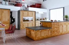 cuisine bois brut meuble cuisine bois de en massif newsindo co