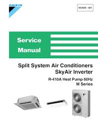 daikin aircon service manual air conditioner databases