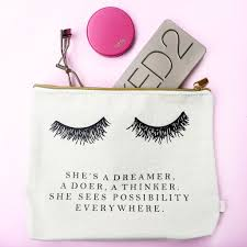 makeup bag eyelash dreamer makeup bag a widows world