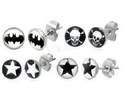 boys earrings new logo ear stud mens boys earring earrings choose your style