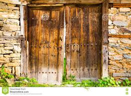 Double Barn Doors by Old Double Rustic Wooden Barn Doors Stock Photo Image 71359292