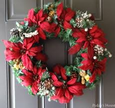 christmas u2013 diy wreath on door u2013 puddy u0027s house