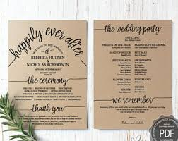 photo wedding programs wedding programs etsy