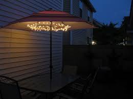 Led Patio Umbrella by Lighting Awesome 9 Feet Deluxe Solar Powered Tan Umbrella With