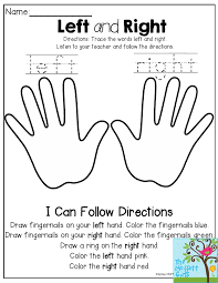 left and right listen to the teacher and follow the directions