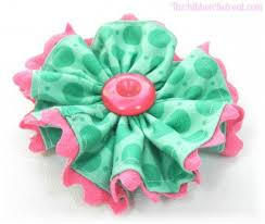 rick rack ribbon fabric flower with ric rac trim the ribbon retreat