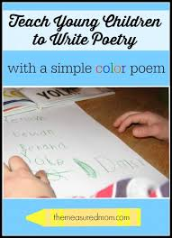 teach children to write poetry with a simple color poem the