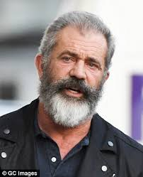 mel gibson has beard shaven off on jimmy kimmel live daily mail