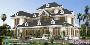 stylish colonial home with dormer windows kerala home design