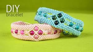 bracelet knots youtube images Make a macram bracelet with diamonds and beads tutorial jpg
