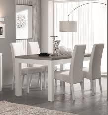 soldes chaises salle a manger table de salle à manger design laquée blanc gris agadir bahut