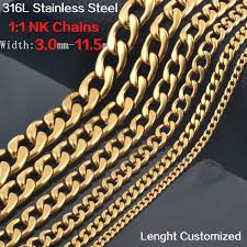 best gold chain necklace images New design men fashion gold color 316 stainless steel chain jpg