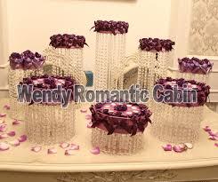 Wedding Cake Display Online Shop 8pcs Crystal Cake Stand Wedding Cake Display