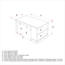 Desk Measurements by Revision Desk Aspace