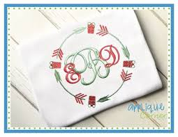 monogram christmas applique corner christmas monogram embroidery design from applique