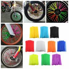 motocross bike security 72 wheel spoke wrap skin coat trim cover pipe motorcycle