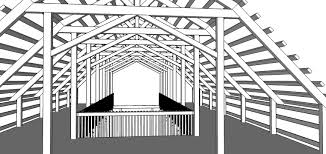 Barn Plans by 40x60 Gambrel Barn Plans