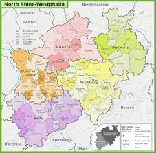 Bonn Germany Map by Administrative Divisions Map Of North Rhine Westphalia