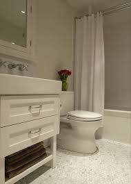 carrara marble hex tile floor contemporary bathroom cutler