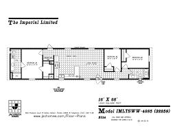 3 bedroom 2 bath mobile home floor plans imlt 4685 mobile home floor plan ocala custom homes