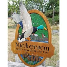 Duck Hunting Home Decor Personalized Lake House Sign Lake House Decor Home Address Sign
