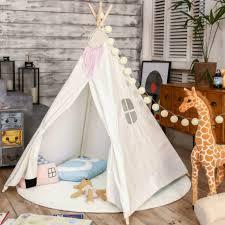 tente chambre amour arbre quatre pôles enfants tipis enfants jouent tente coton
