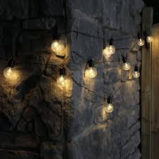 Outdoor Battery Light by Outdoor Battery Festoon Lights 10 Warm White Leds Clear Bulbs