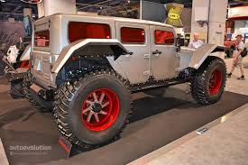 4 door jeep wrangler jacked up the best and worst of sema 2014 autoevolution