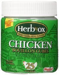 amazon com herb ox bouillon cubes chicken bouillon 25 ct 3 33 oz