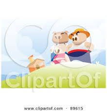 royalty free rf clipart illustration pigs