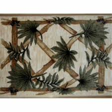 tropical bamboo print area rug measures 47 in x 32 in and done