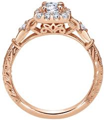 carved engagement rings 14k carved cathedral filigree halo diamond engagement ring