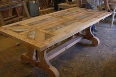 custom wood dining tables diy free plans for triple pedestal wooden farmhouse dining table