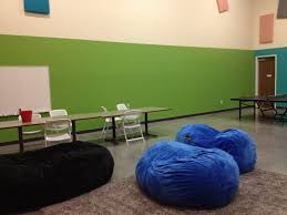 acoustic panels add color to youth room san jose first united