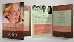 modern funeral programs sweet orchid funeral program template memorial program editable