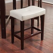 Counter Height Stool Avorio 26 Inch Saddle Counter Stool Ivory Hayneedle