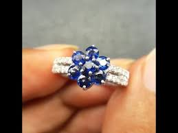 model cincin blue safir 761 cincin wanita blue safir srilanka dan berlian eropa ring emas