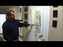 How To Hang Blinds On A Door Custom Shutters For French Doors Youtube